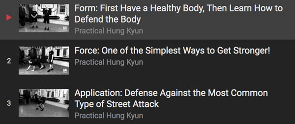 3 Free Practical Hung Kyun Instructional Videos